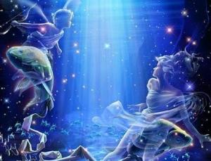 Peixes Deus e Criança de